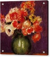 Flowers In A Vase 1901 Acrylic Print