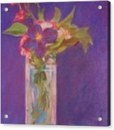 Flowers In A Vase After Manet Acrylic Print