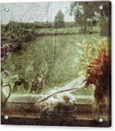 Flowers In A Window Acrylic Print