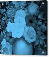 Flowers In Blue Acrylic Print