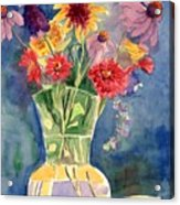 Flowers in Glass Vase Acrylic Print
