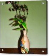Flowers In Japanese Vase Acrylic Print