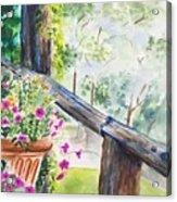 Flowers in Morning Mist Acrylic Print