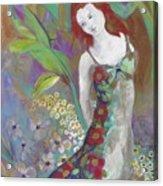 Flowers In The Garden Acrylic Print