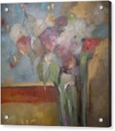 Flowers In The Rain Acrylic Print by M Allison