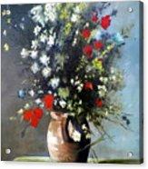 Flowers In Vase Acrylic Print