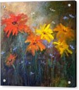 Flowers Of The Field Acrylic Print