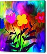 Flowers Of The I-magi-nation Acrylic Print