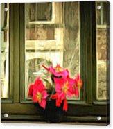 Flowers On A Ledge Acrylic Print