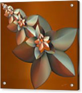 Flowers On Bronze Acrylic Print