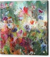 Flowers On Canvas Acrylic Print