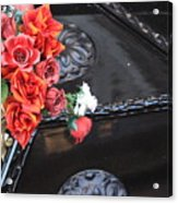 Flowers On Gondola In Venice Acrylic Print