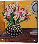 Flowers On The Desk Acrylic Print