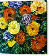 Flowers Painting #191 Acrylic Print