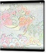Flowers Painting  Acrylic Print