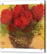 Flowers Red Acrylic Print