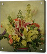 Flowers Acrylic Print by Sandy Keeton