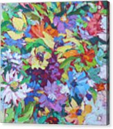 Flowers Splash Acrylic Print