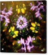 Flowers Thru Kaleidiscope Acrylic Print