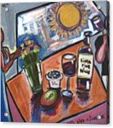 Flowers Wine N Sunshine Acrylic Print