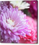 Flowers With Love Acrylic Print