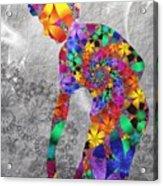 Flowerwoman Acrylic Print