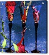 Flowery Cocktails Acrylic Print