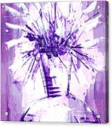 Flowery Purple IIi Acrylic Print
