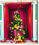 Flowery Window Acrylic Print