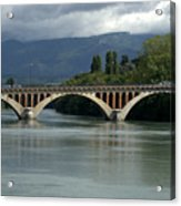 Flowing Bridge Acrylic Print
