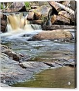 Flowing Over The Rocks Acrylic Print