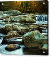 Flowing River On Greenbrier Cove Road Smoky Mountains National P Acrylic Print