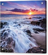 Flowing Sunset Acrylic Print