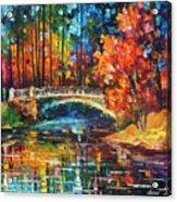 Flowing Under The Bridge  Acrylic Print