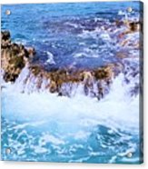 Flowing Water In The Cayman Islands # 4 Acrylic Print