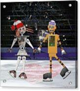 Floyd And Zoe's Skate Date Acrylic Print