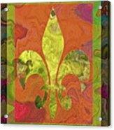 Fluer De Lis Acrylic Print