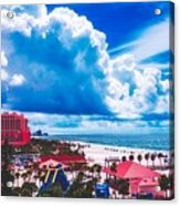 Fluffy Clouds Over Clearwater Beach Acrylic Print