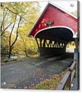 Flume Bridge Lincoln New Hampshire Acrylic Print