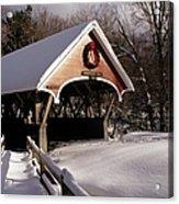 Flume Covered Bridge - Lincoln New Hampshire Usa Acrylic Print