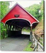 Flume Covered Bridge Acrylic Print