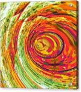 Fluorescent Wormhole Acrylic Print by Shawna Rowe