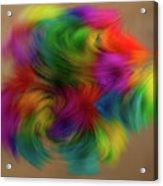 Flurry Flowers Acrylic Print