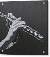 Flute Hands Acrylic Print