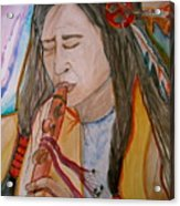 Flute Player Acrylic Print