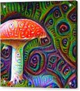 Fly Agaric Magic Mushroom Deep Dream Acrylic Print