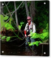 Fly Fisher Acrylic Print