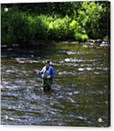 Fly Fishing In New York Acrylic Print