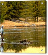 Fly Fishing On The Madison Acrylic Print
