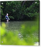 Fly Fishing Smithtown New York Acrylic Print